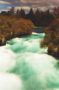 The Huka Falls just north of Taupo