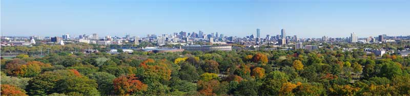 View from the Tower in Mount Auburn Cemetery - quite why the residents should need such a great view wasn't clear!