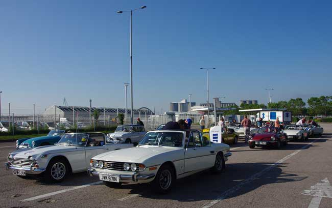 TSSC gathering at le Havre en route to Le Mans