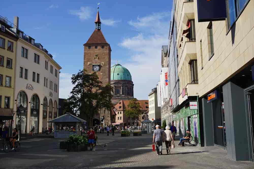 A sunny day in the centre of Nurnberg