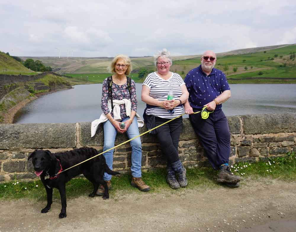Denise, Cleve, Claire and Wanda the dog